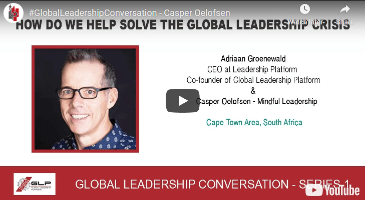 Casper Oelofsen in Cape Town answers our question – What is the #1 leadership attribute/quality nee